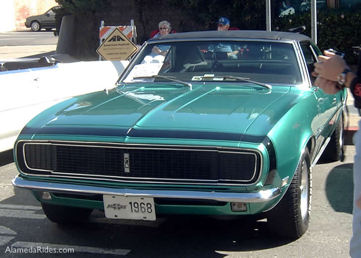 Chevy Camaro Green 1968